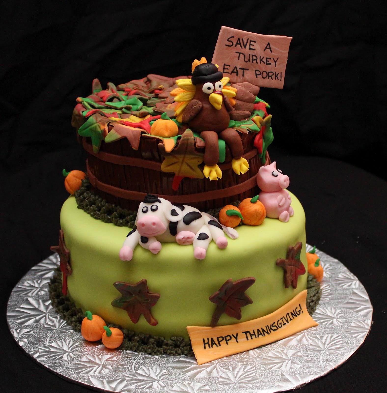 Love Dem Goo S Thanksgiving Themed Cake