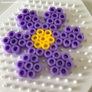 Hama bead flower design