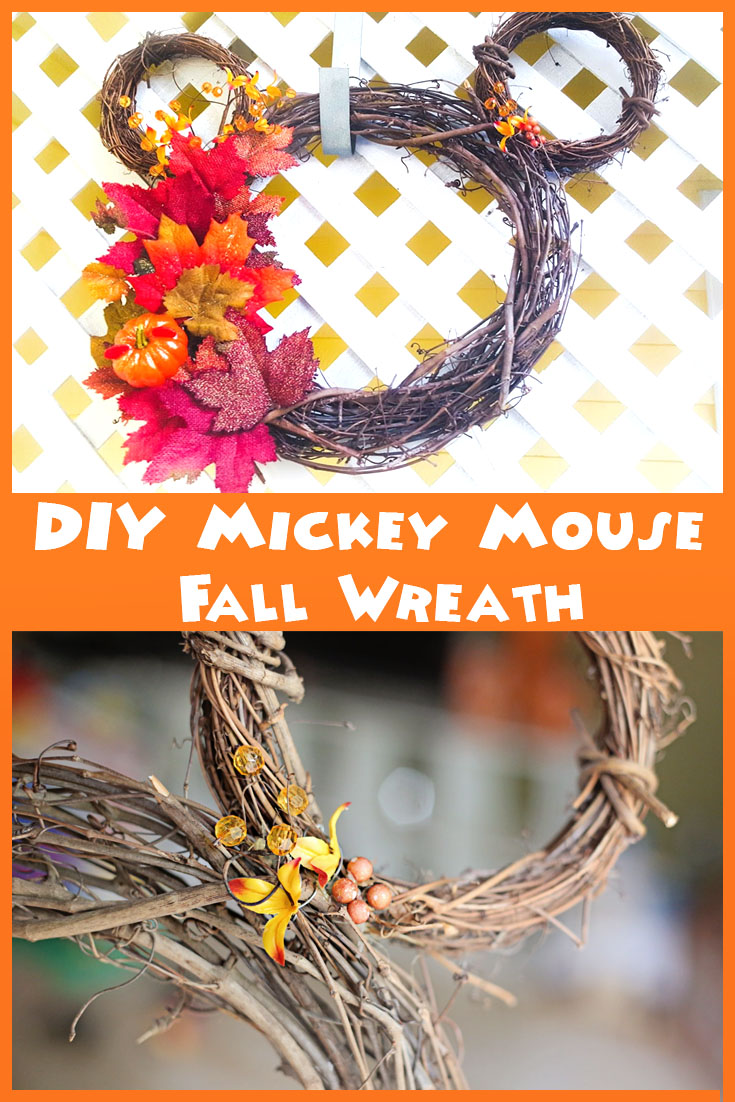 Easy DIY Mickey Mouse Fall Wreath