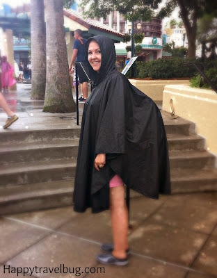Me with my poncho over my backpack...lol