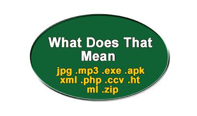 .exe .mp4 .jpeg .rar .pdf .zip - ফাইল এক্সটেনশান  কি?
