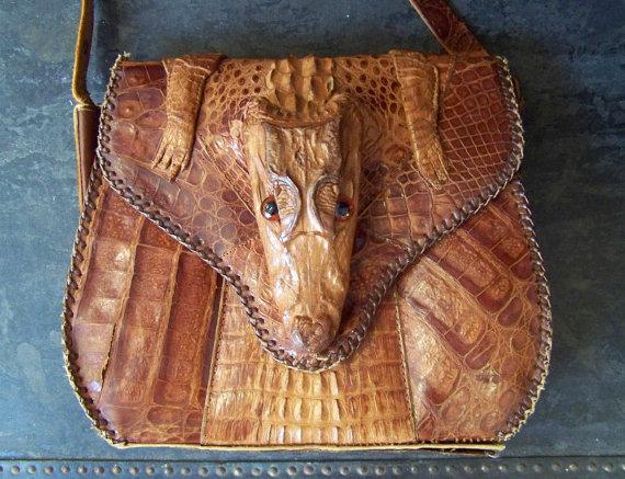 My Pretty Baby Cried She Was A Bird Vintage Alligator Handbags 1940 S 1950