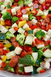 Italian Veggie Salad: Savory Sweet and Satisfying