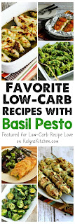 My Favorite Low-Carb Recipes with Pesto featured for Low-Carb Recipe Love on KalynsKitchen.com