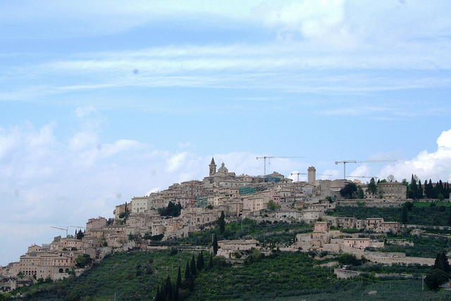 Town of Montefalco in Umbria