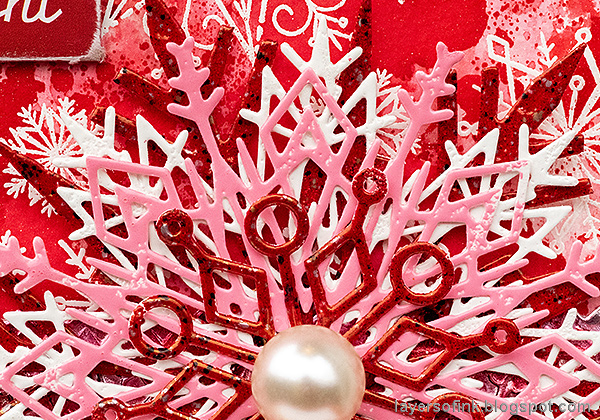 Layers of ink - Snowflake Christmas Wall-Hanging by Anna-Karin Evaldsson.