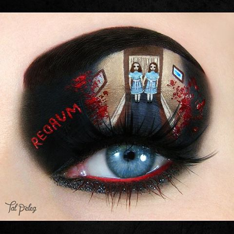 12-Stephen-King-The-Shining-Jack-Nicholson-Tal-Peleg-Body-Painting-and-Eye-Make-Up-Art-www-designstack-co