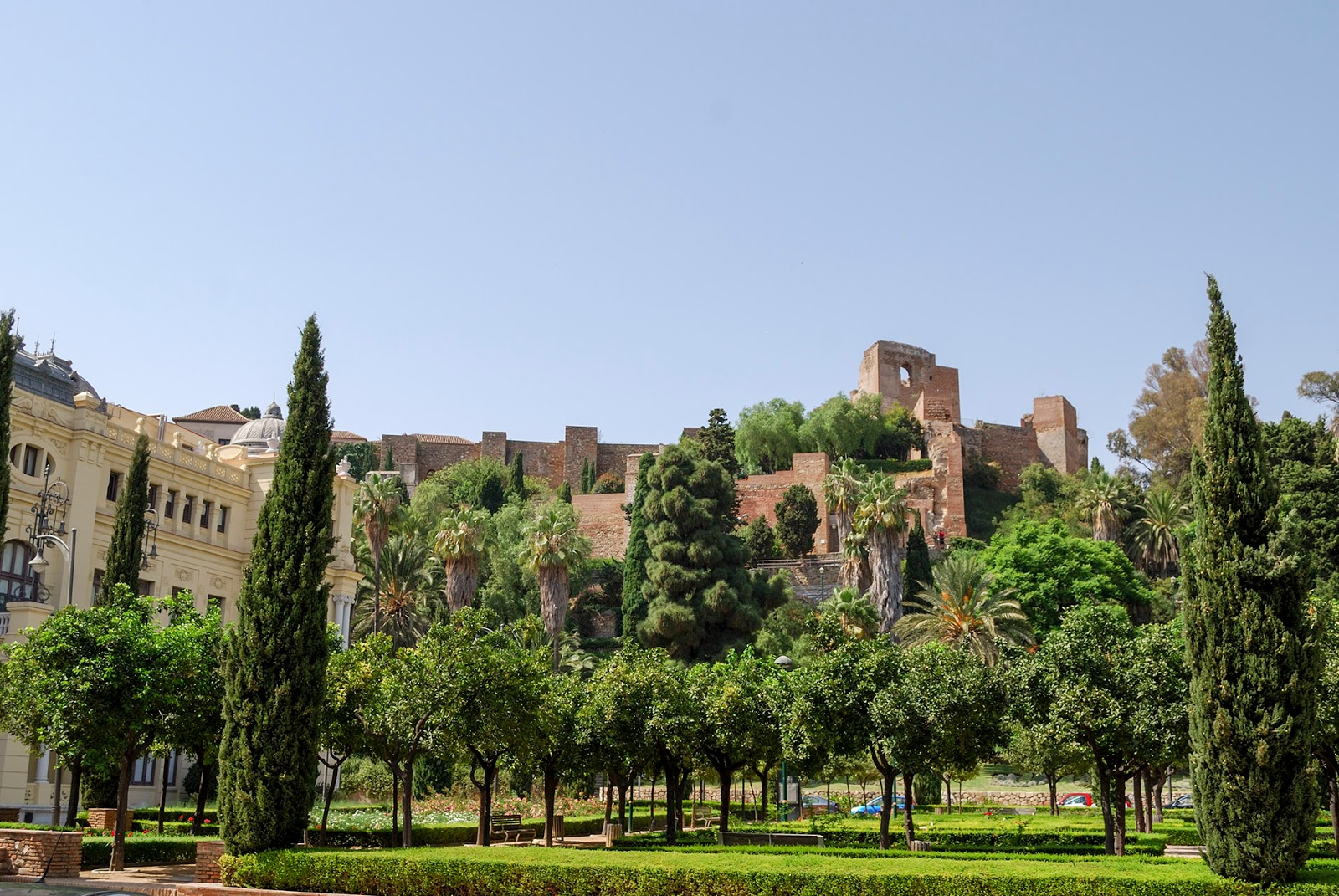 alcazaba gibralfaro city hall malaga spain