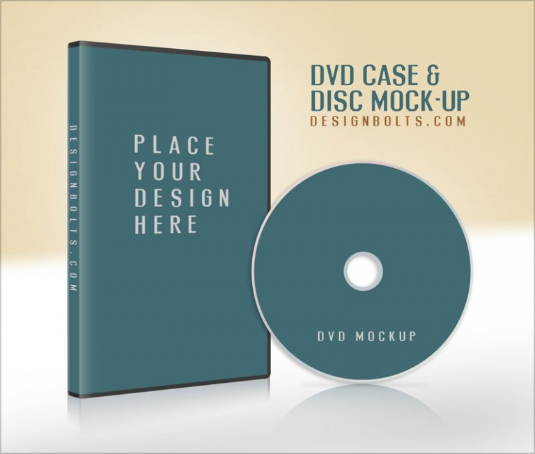 Free CD / DVD Case Cover Mock-up