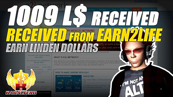 1009 Linden Dollars Received From Earn2Life ★ Earning Linden Dollars