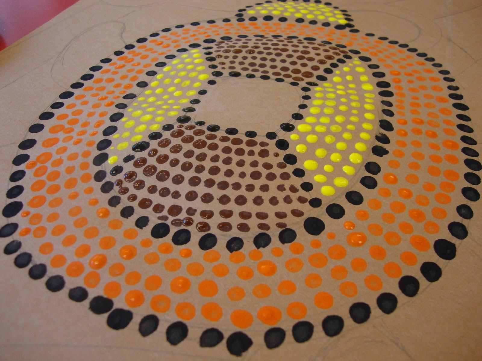 Art Paper Scissors Glue Aboriginal Dot Paintings