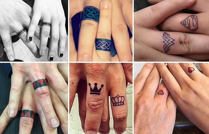 wedding ring finger tattoo yüzük parmağı dövme modelleri