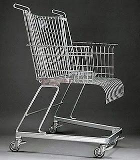 diseño de silla muy ingeniosa con carrito del super mercado