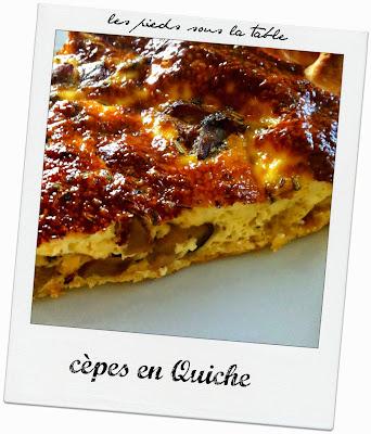 cèpes en Quiche