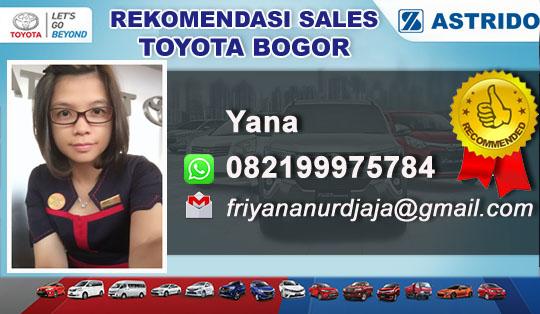 Rekomendasi Sales Toyota Gunung Putri Bogor