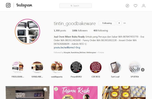 Tintin Good Bakeware - Toko Bahan Kue Online Instagram