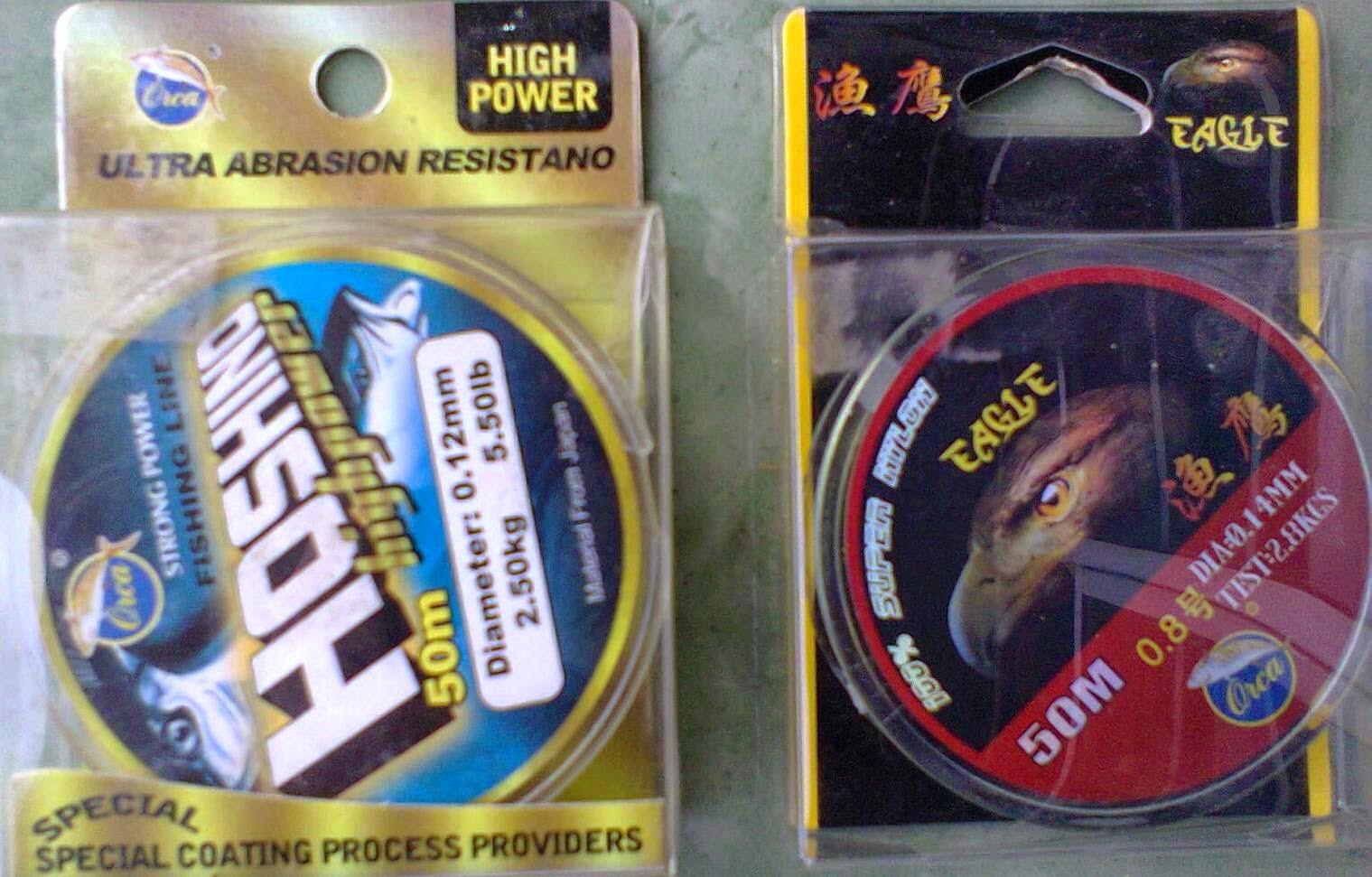 Gambar Senar Pancing kuat handal Orca Hoshino dan Orca Eagle | Tips Memancing ikan tawes di sungai