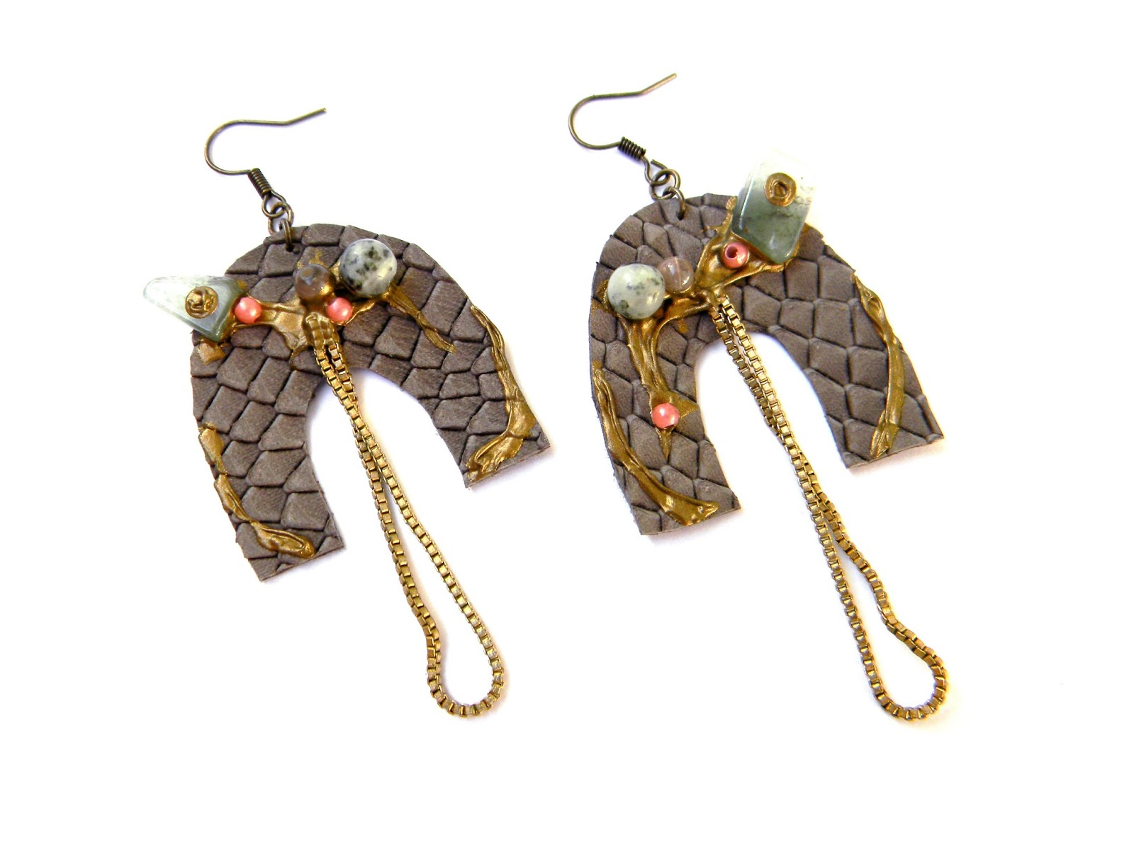 Uniuqe Handmade Earrings Handcrafted Jewelry Fashion Jewelry Steampunk Earrings