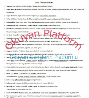 LYS Edebiyat Özet PDF İndir
