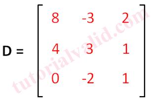 Contoh soal invers matriks 3x3