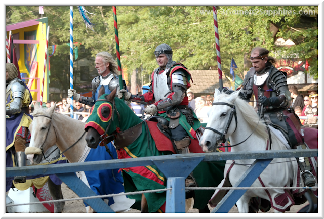 King Richard's Faire - Four Knights at the Joust | 3 Garnets & 2 Sapphires