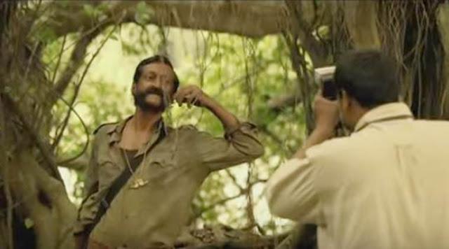 Sandeep Bharadwaj as Veerappan in Ram Gopal Varma's Veerappan
