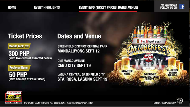 35th San Miguel Beer Oktoberfest and Music Festival: Schedules and Venue