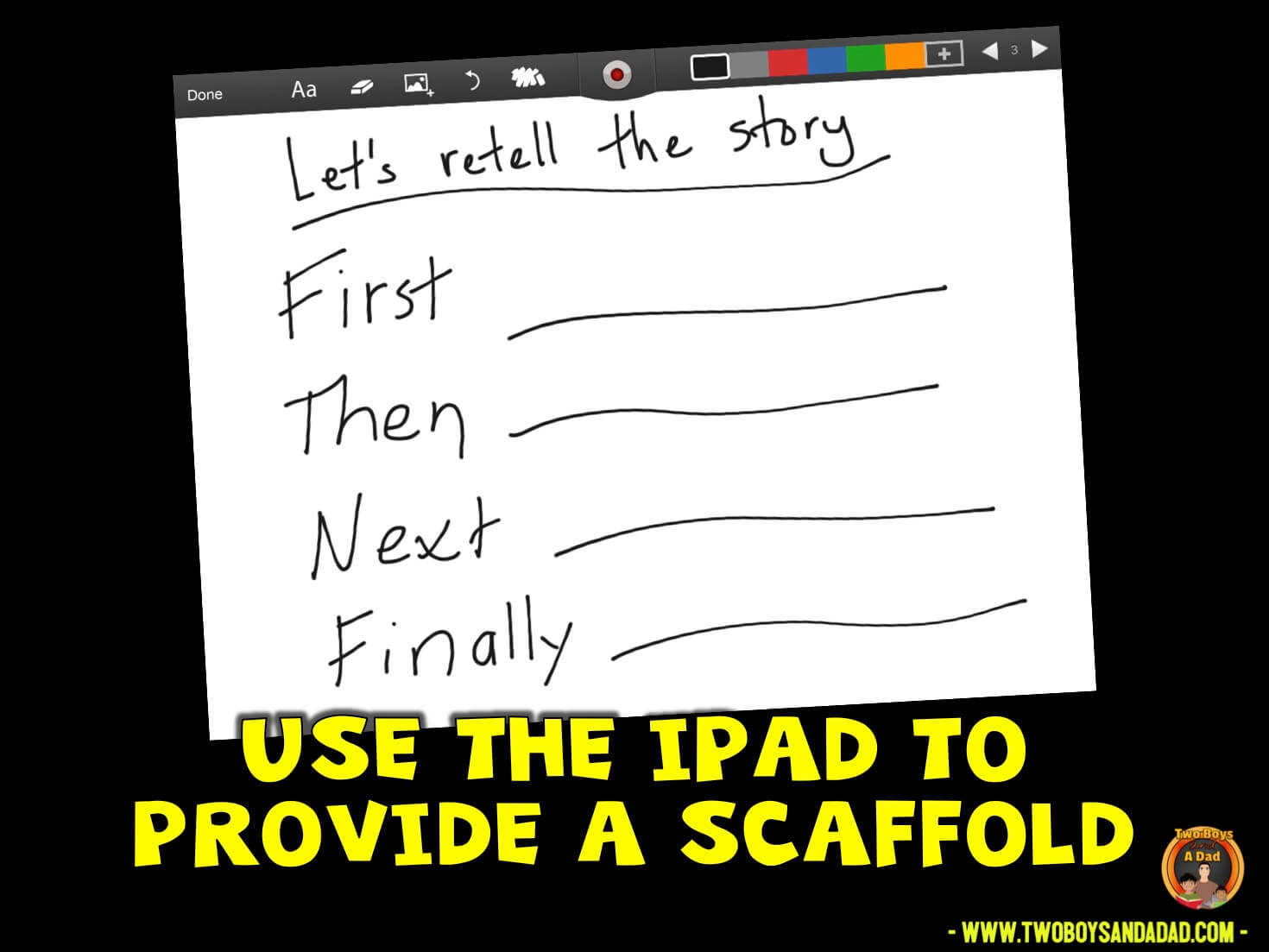 using the iPad during guided reading to provide a scaffold