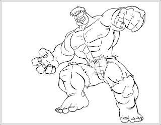 Ausmalbilder Hulk Kostenlos