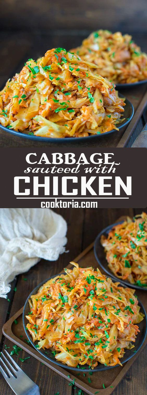Cabbage Sauteed with Chicken