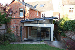 Modern kitchen extension on Edwardian house