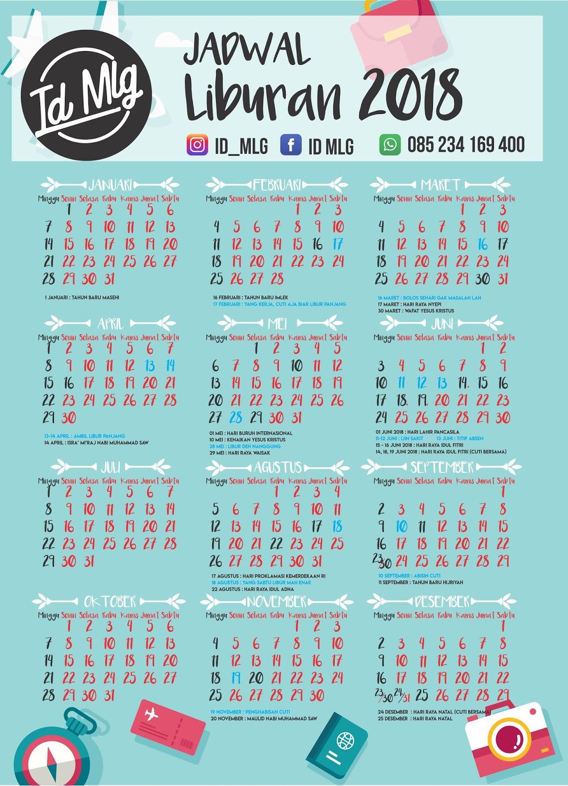 Kalender Jadwal Liburan 2018 Bahagia Id Mlg Libur Imlek Februari Dapat Di Download Blog Ini