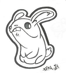 inktober simple sketch quick bunny