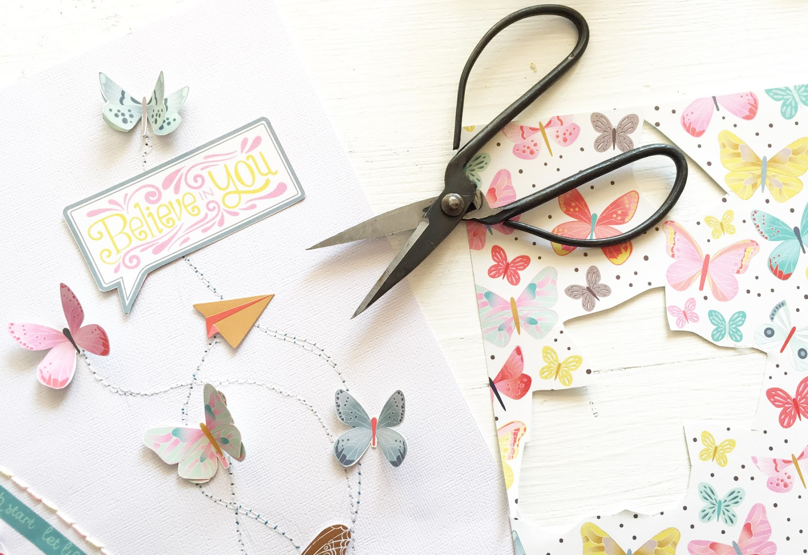 Believe in You Layout by Steffi Ried | Paige Taylor Evans