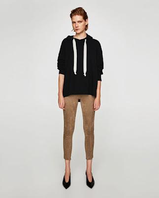 Bayan süet pantolon kahverengi modeli