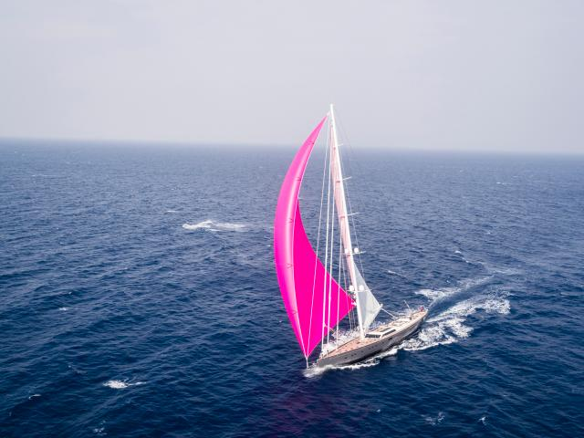 This Brilliant Sailing Boat Was The Best In Its Category Over 50metres.  Pink Gin Has A Simple, Yet Sophisticated Outdoor Entertaining Area On The  Top Deck.