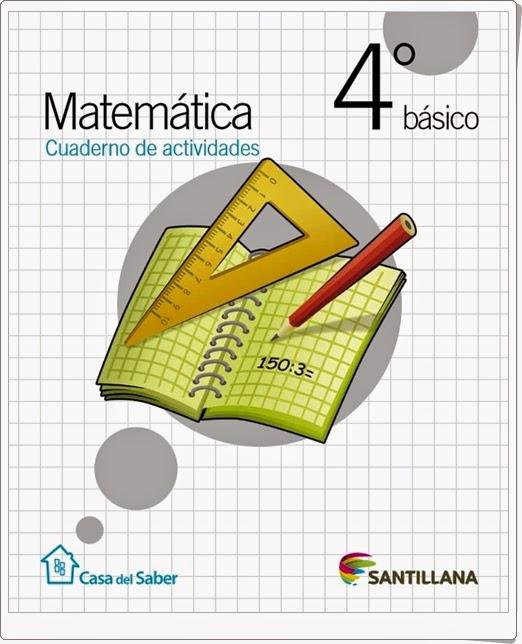 """""""Cuaderno de Matemáticas"""" (4º de Primaria. Santillana)"""