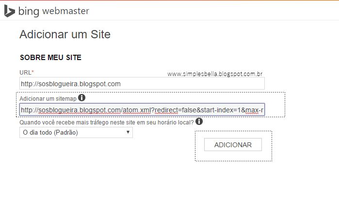 Como enviar um sitemap ao bing webmaster