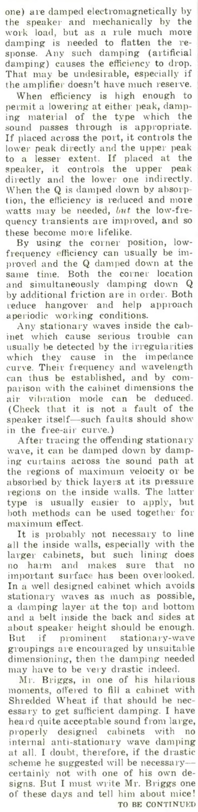 All About the Reflex Enclosure - Part 7 - P.G.A.H. Voigt