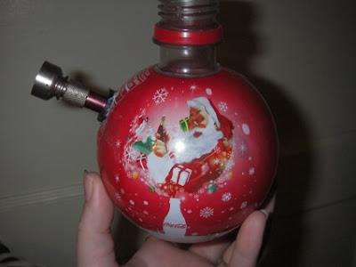 Merry Christmas Homemade Bong