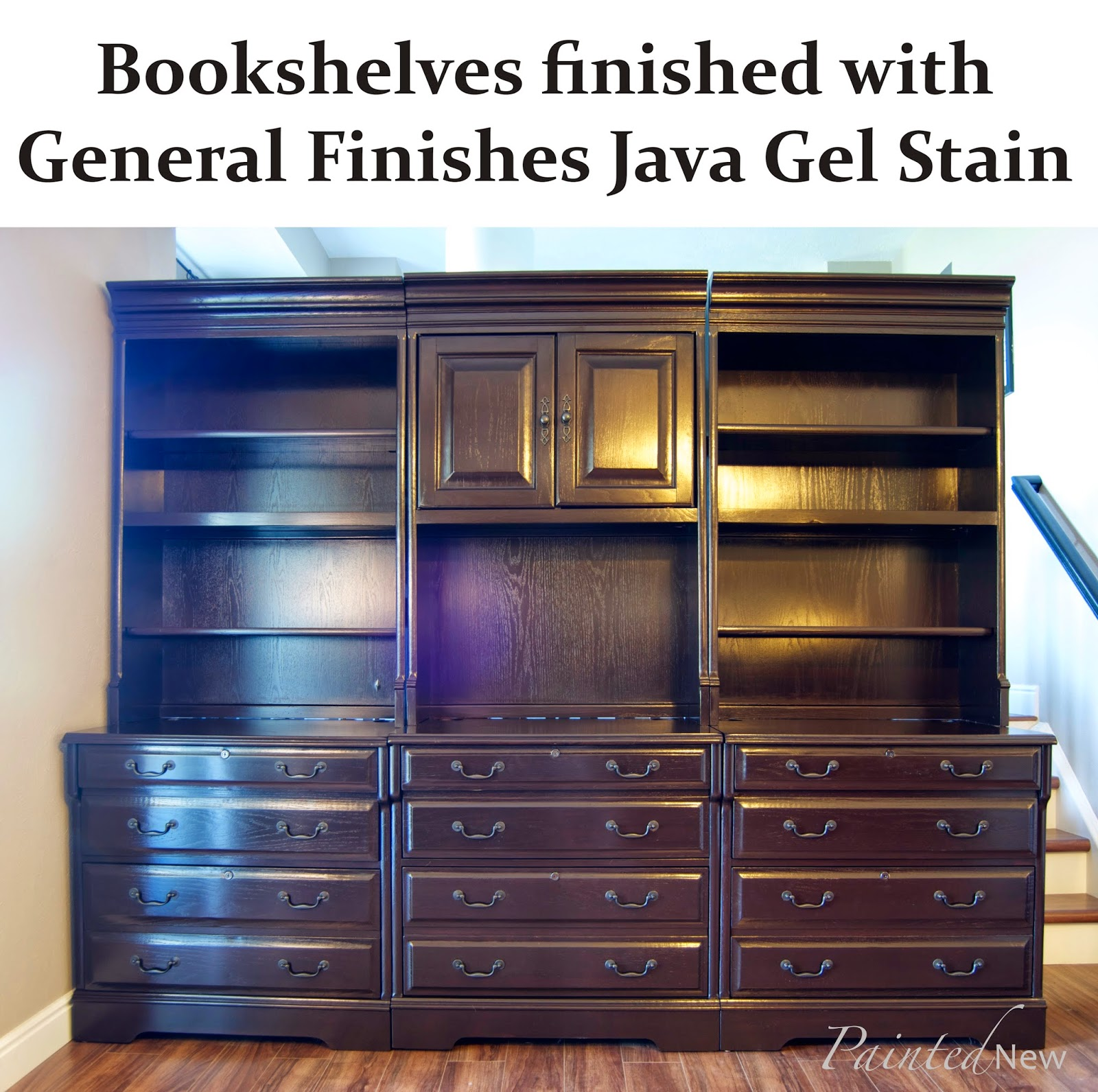 Gel Stain Kitchen Cabinets Espresso: Painted New: General Finishes Gel Stained Bookcases