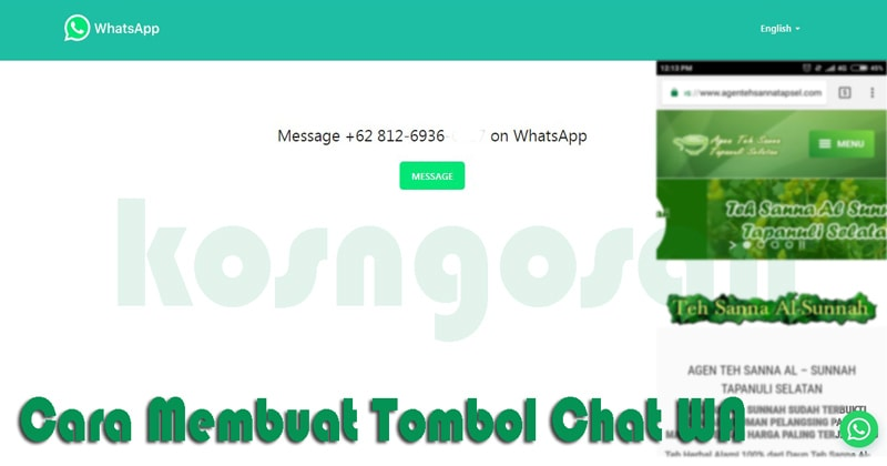 Memasang Tombol Chat WhatsApp Tanpa Plugin di Wordrpress dan Blogspot