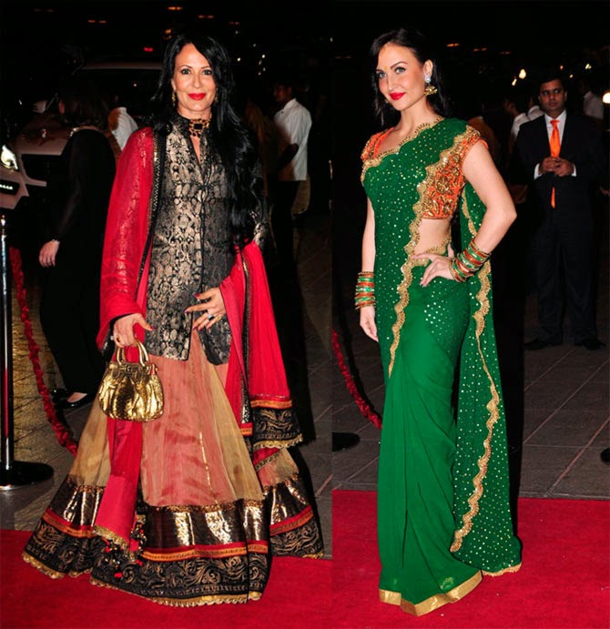 Ayesha Shroff and Eli Avram, Pics from Arpita-Ayush's Wedding reception
