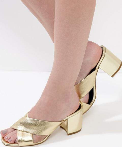 Gold mules from New Look to complement any summer outfit