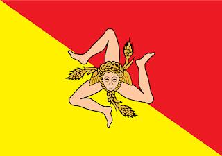 Semnificaţia simbolului Triskelion - Steag Sicilia