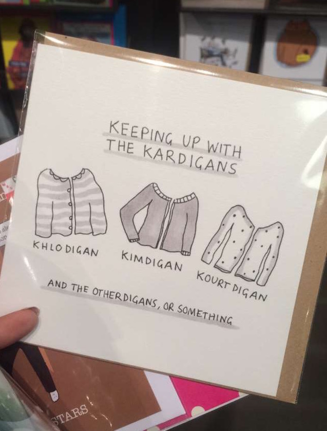 Funny Kardashian greetings card