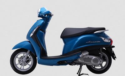 New 2016 Yamaha Nozza Grande 125cc blue side image