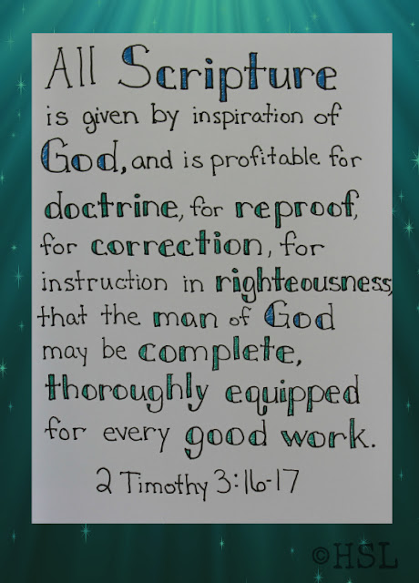 Scripture Writing, 2 Timothy 3:16-17