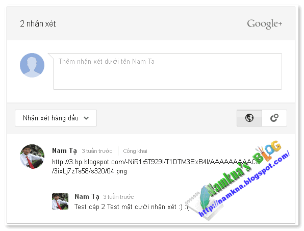 Thêm comments của googleplus cho custom blogger templates