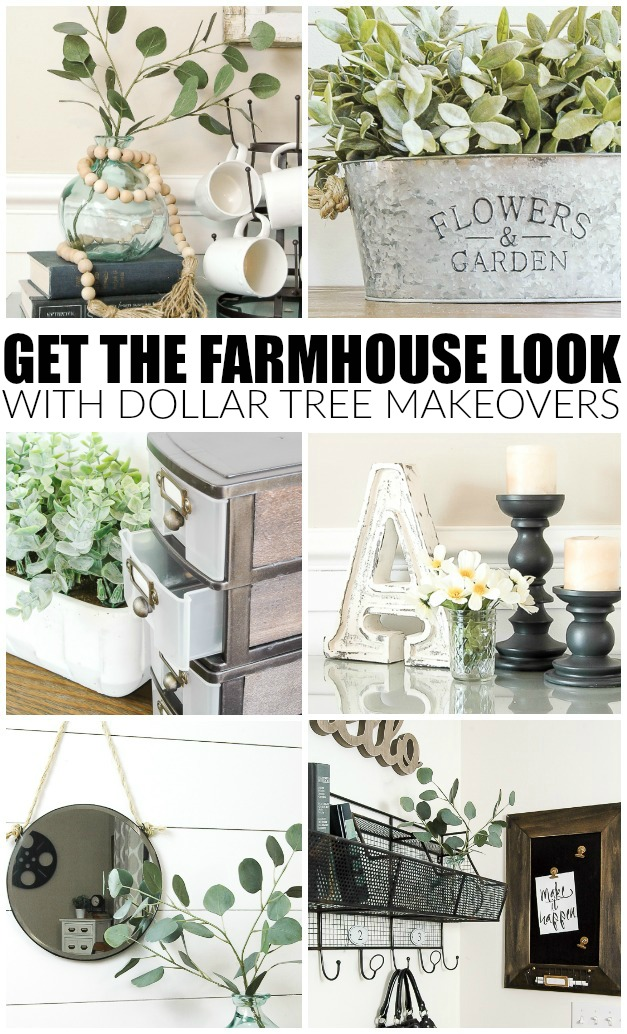 Get the perfect farmhouse look with these DOLLAR TREE items!